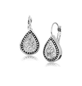 JOHN MEDEIROS F3859-RF00 OCEAN IMAGES SPARKLING SEAS PAVÉ TEARDROP EARRINGS