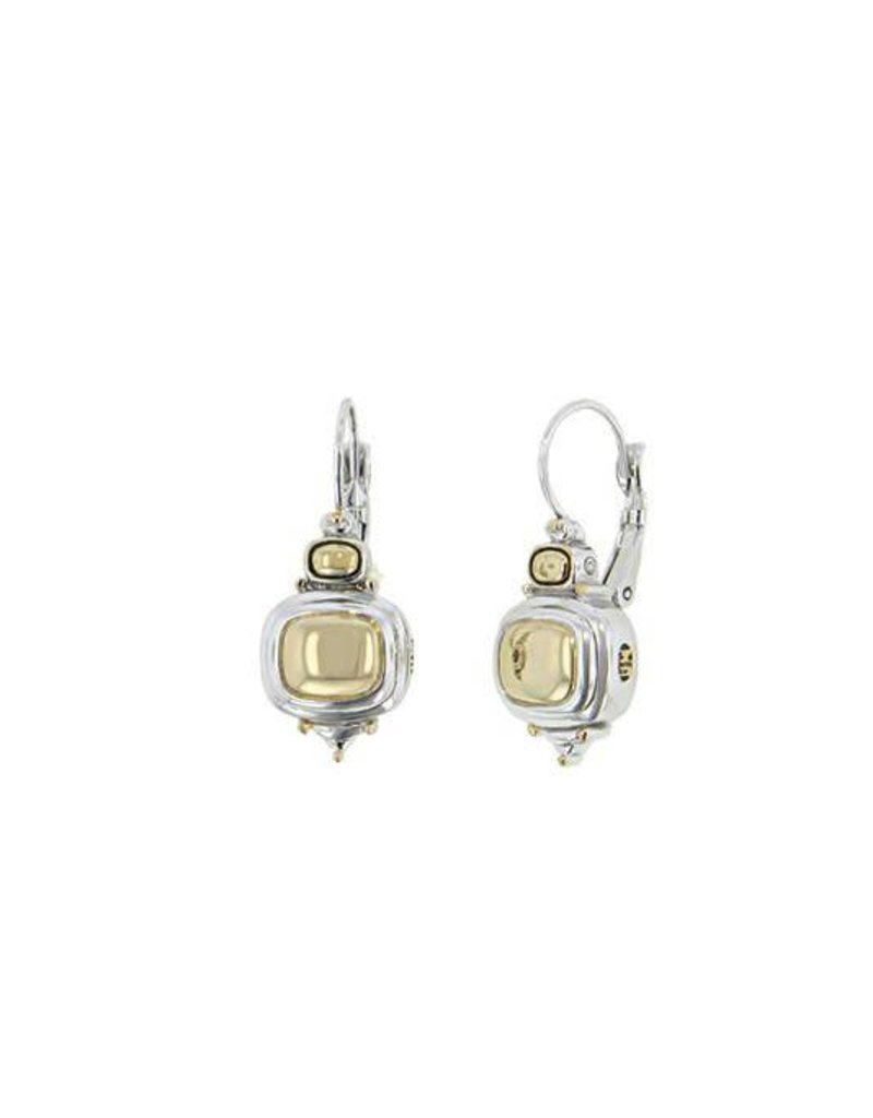 JOHN MEDEIROS F2743-A000 NOUVEAU GOLD DOME FRENCH WIRE EARRINGS
