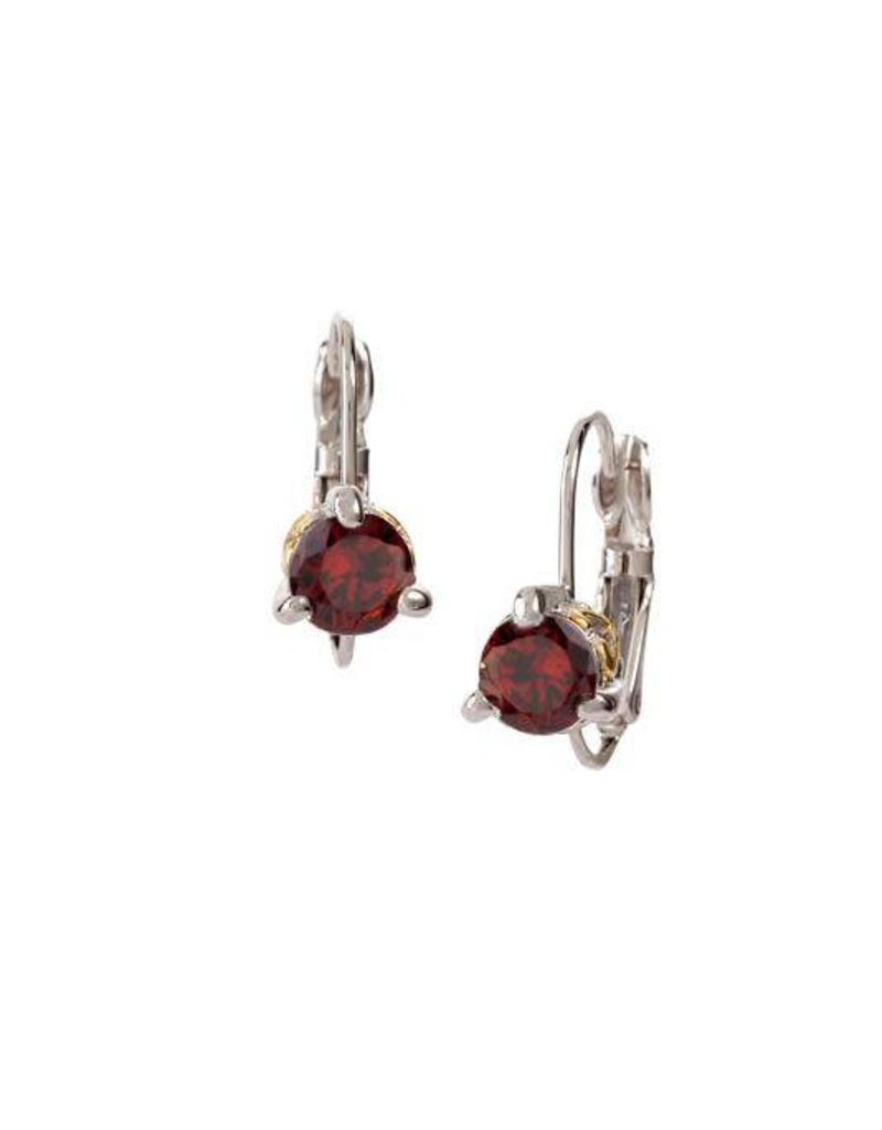 JOHN MEDEIROS F5016-AN00 6MM CZ EURO WIRE EARRING