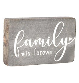 RUSTIC MARLIN XL Rustic Block Family Is Forever - Grey Wash, White