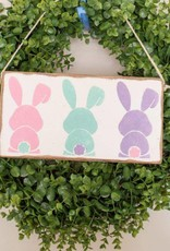 RUSTIC MARLIN Mini Plank Bunny Tails - White, Pink, Seaglass,