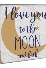 RUSTIC MARLIN Vintage Square 1212 To The Moon + Back - White, Navy,