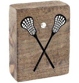 RUSTIC MARLIN Rustic Block Lacrosse Sticks - Natural, White, Black