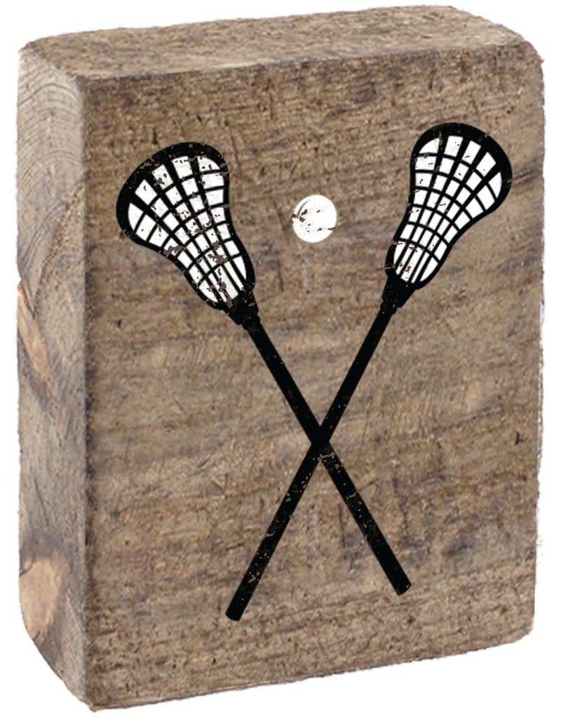RUSTIC MARLIN Rustic Block Lacrosse Sticks - Natural, White, Black