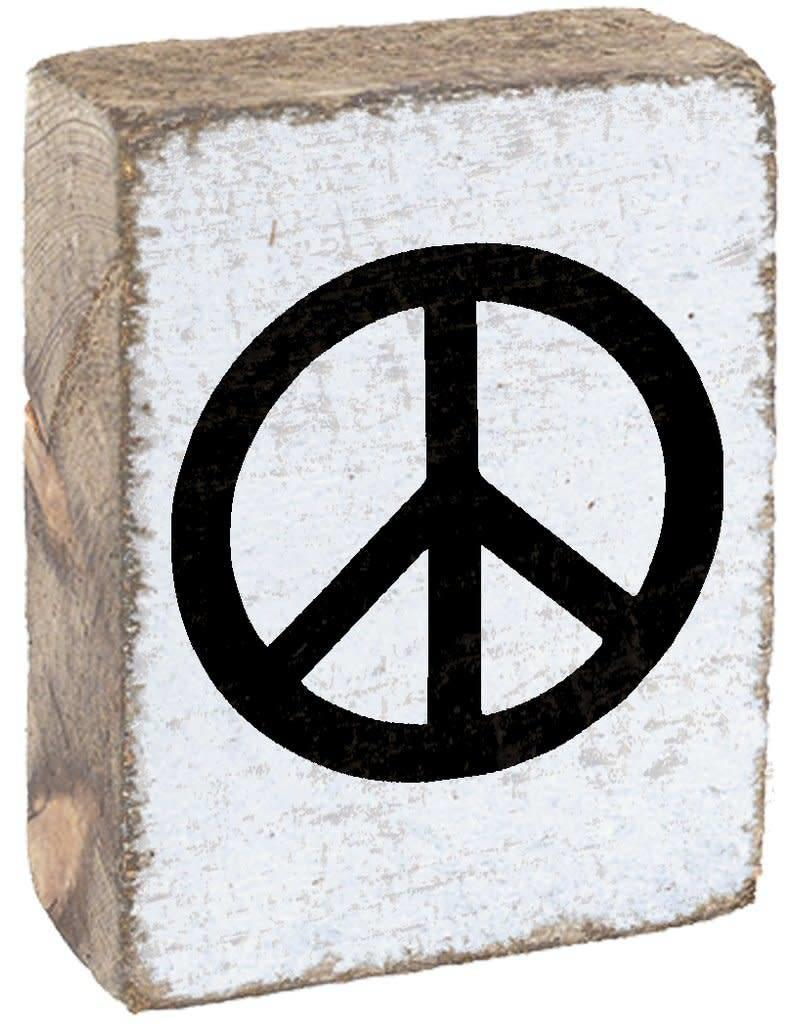 RUSTIC MARLIN Rustic Block Peace - White, Black