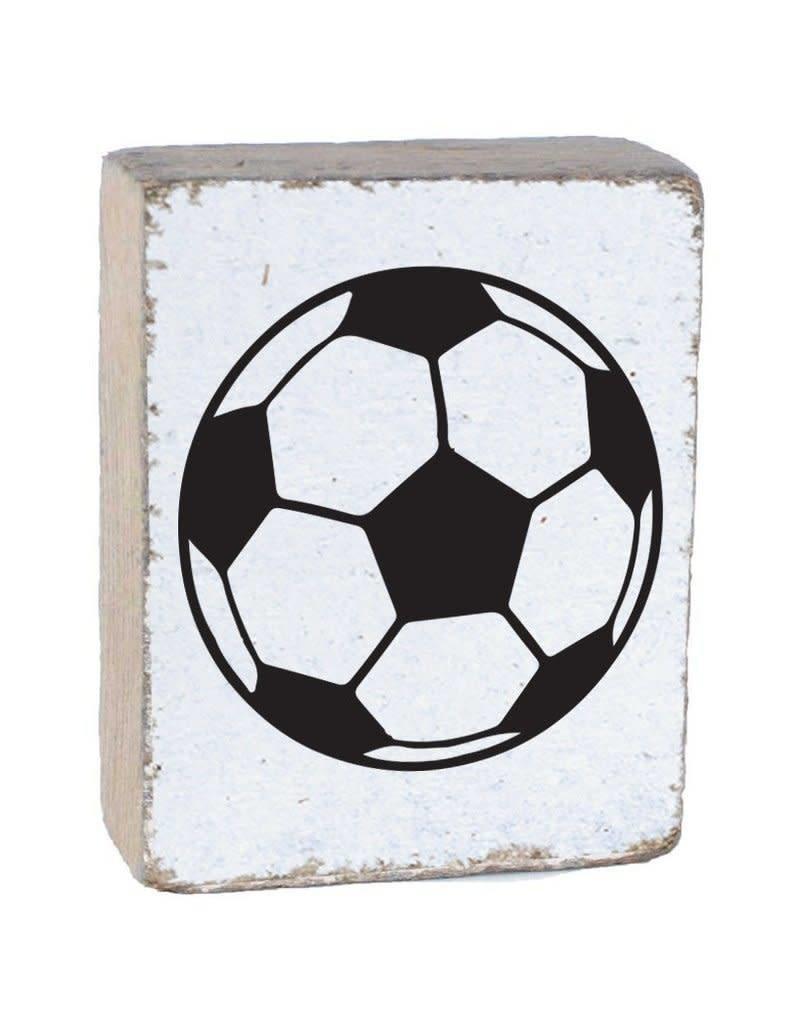 RUSTIC MARLIN Rustic Block Soccer Ball - White, Black