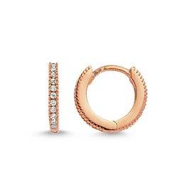 AMORIUM 2331-1496 MINI DIAMOND LEXI HOOPS IN ROSE GOLD