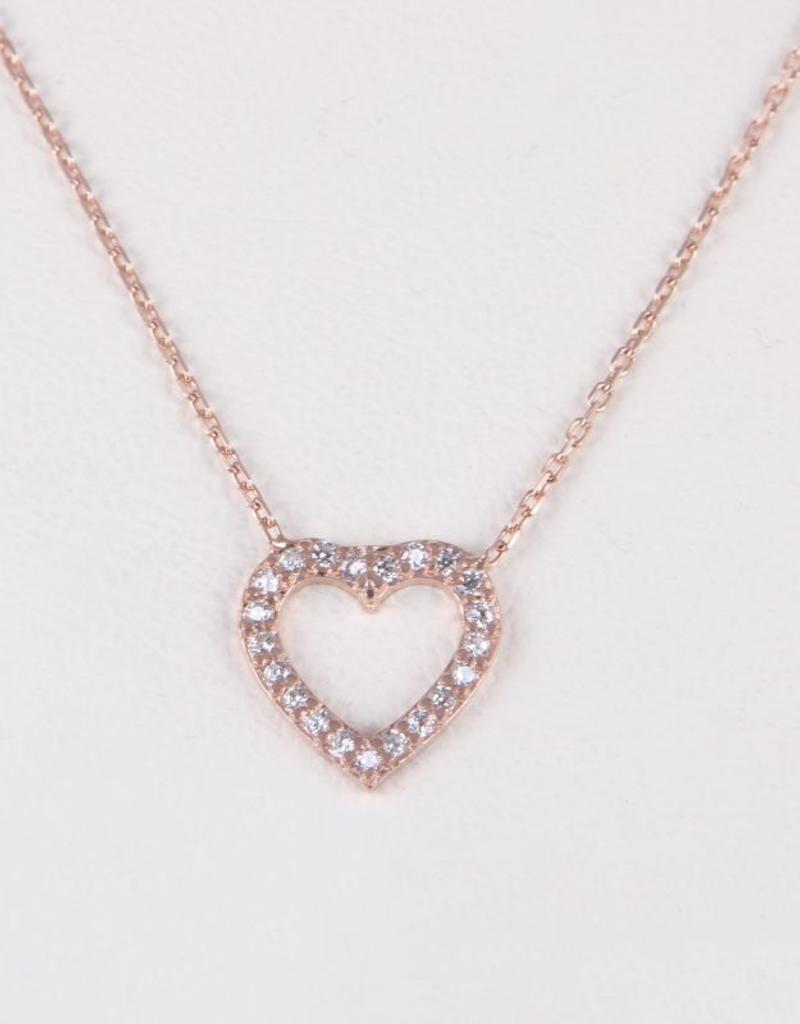 AMORIUM 3331-1051 MINI HEART NECKLACE ROSE