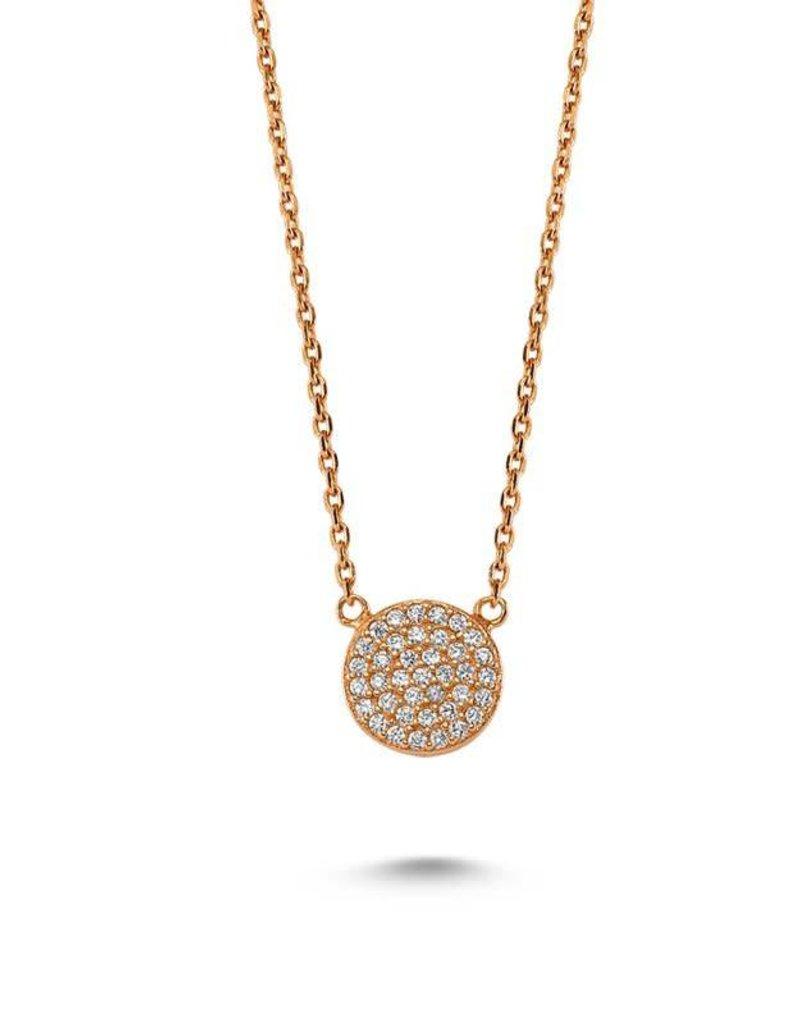 AMORIUM 3331-1323 DOT NECKLACE ROSE GOLD