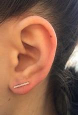 AMORIUM 2331-1112 ROSE GOLD BAR EARRINGS