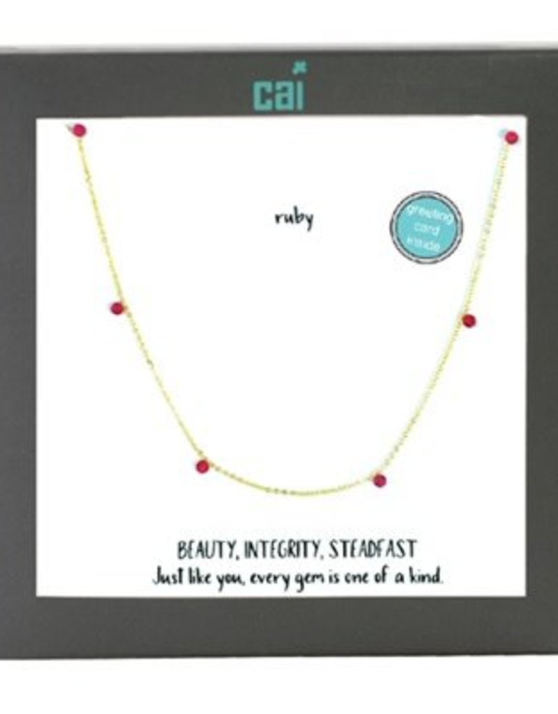 25758 GOLD RUBY NECKLACE