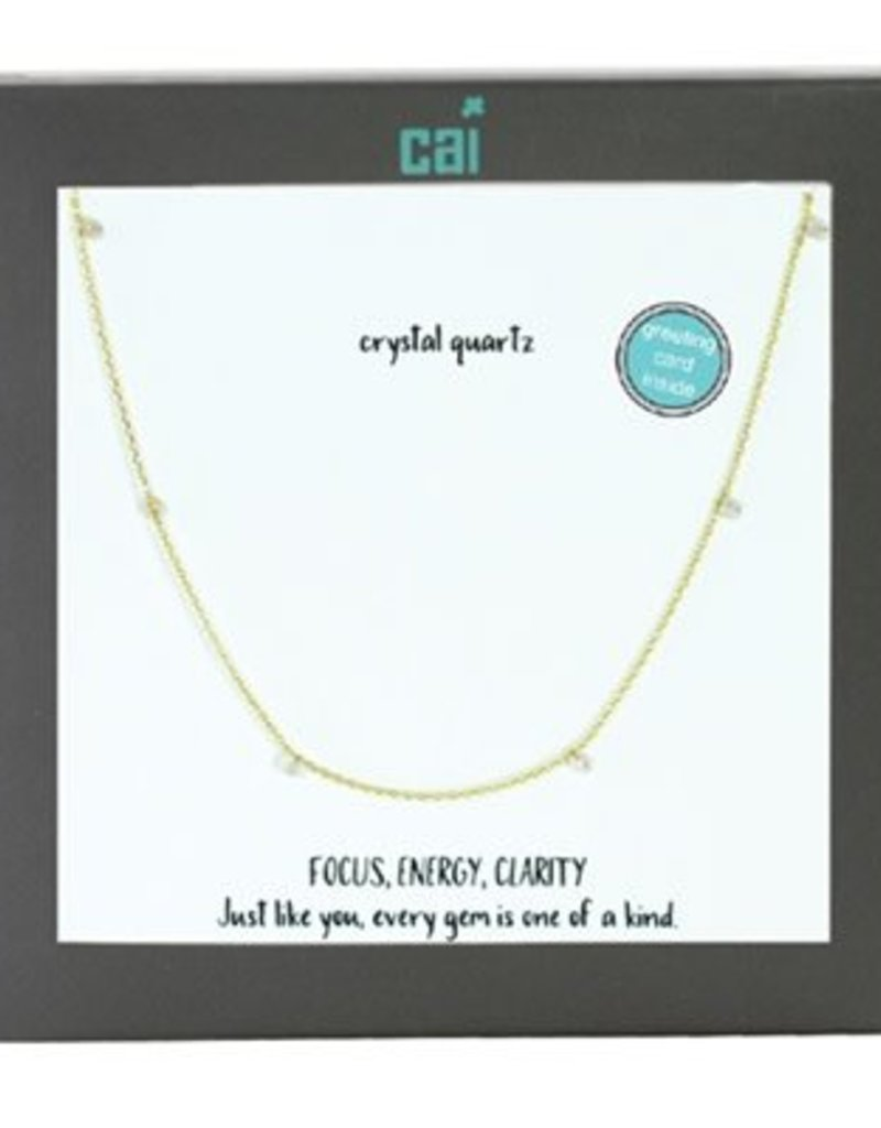 25755 GOLD CRYSTAL NECKLACE