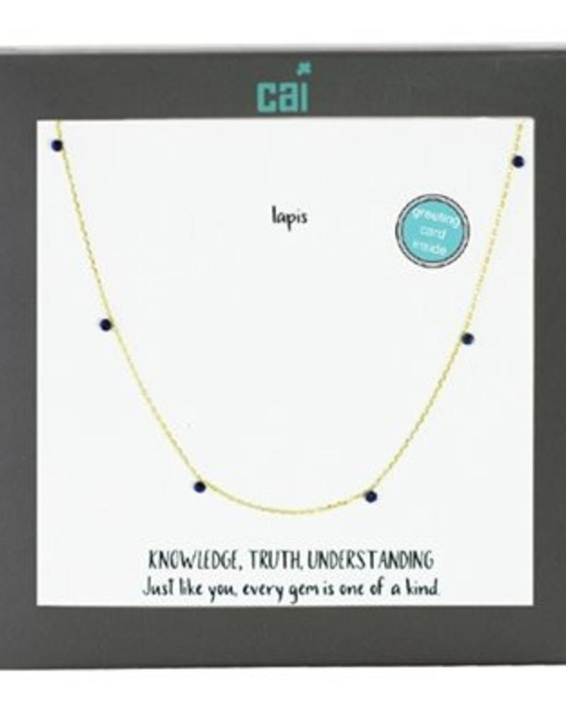 25753 GOLD LAPIS NECKLACE