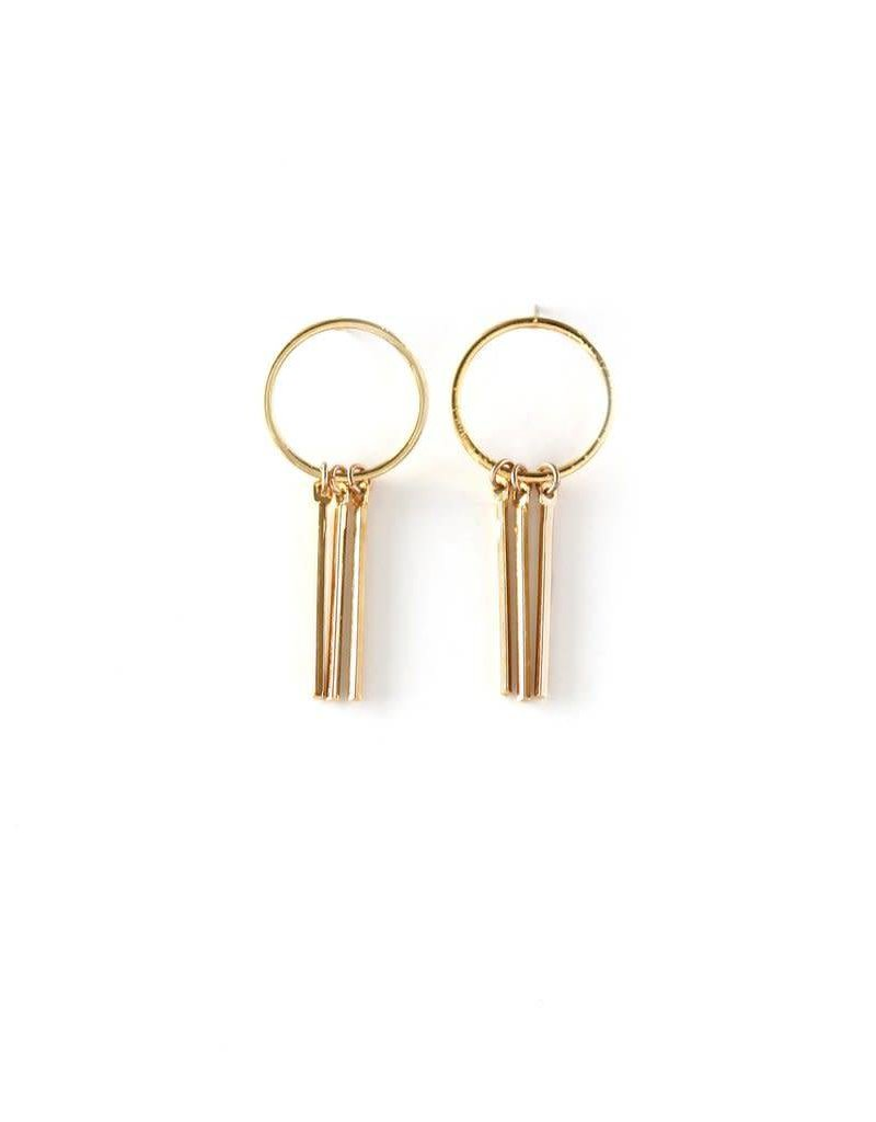 LOVERS TEMPO 1FW16018-GLD RAY OF LIGHT EARRINGS - GOLD