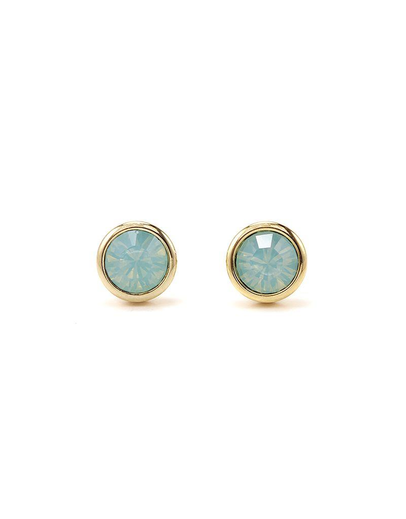 LOVERS TEMPO 1HH13002-MNT SWAROVSKI STUD EARRINGS - PACIFIC OPAL