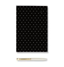 KATE SPADE 186865 Loose Note Holder With Pen, Black Dot