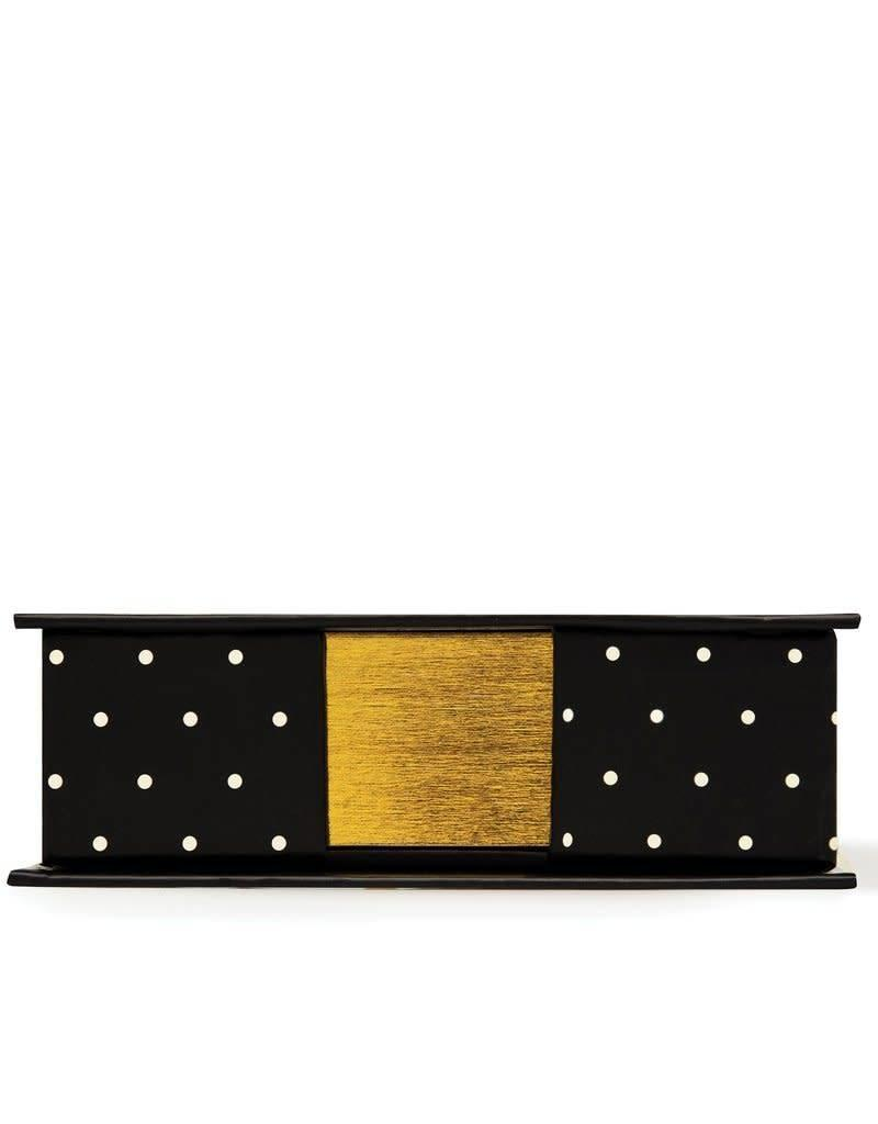 KATE SPADE 186865 Loose Note Holder With Pen, Black Dot