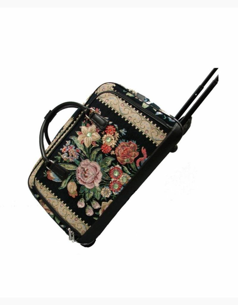 HB1010 VINTAGE TAPESTRY ROLLER BAG FLOWER SHOP