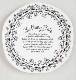 NATURAL LIFE PLT014 GIVING PLATE BLACK AND WHITE