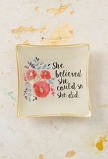 NATURAL LIFE GLST068 GLASS TRAY SHE BELIEVE