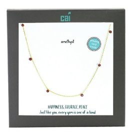 25757 GOLD AMETHYST NECKLACE