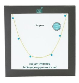 25752 GOLD TURQUOISE NECKLACE