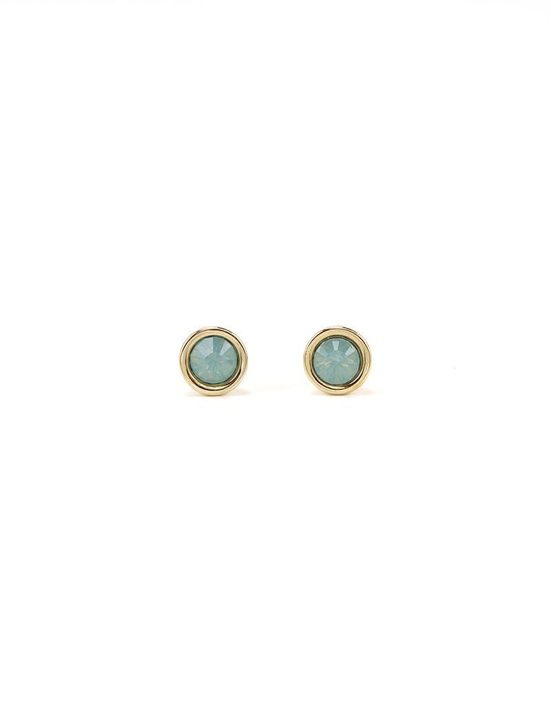 LOVERS TEMPO 1HH13001-MNT SWAROVSKI MINI POST EARRINGS - PACIFIC OPAL