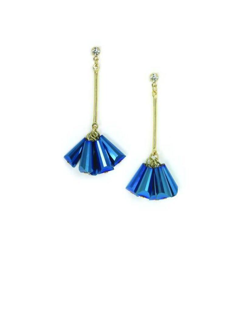 LOVERS TEMPO 1FA18019-BLU CONFETTI DROP EARRINGS - BLUE BUYER GIFT