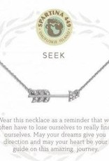 "Spartina 449 501637 SEA LA VIE NECKLACE 18"" SEEK/ARROW SIL"