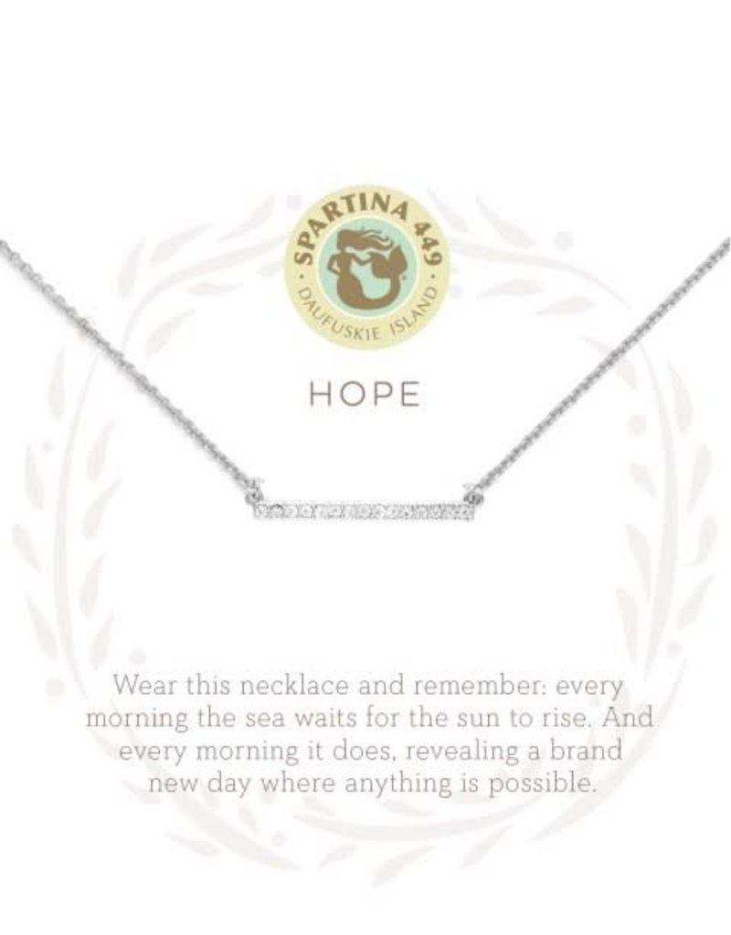 "Spartina 449 501644 SEA LA VIE NECKLACE 18"" HOPE/HORIZON SIL"
