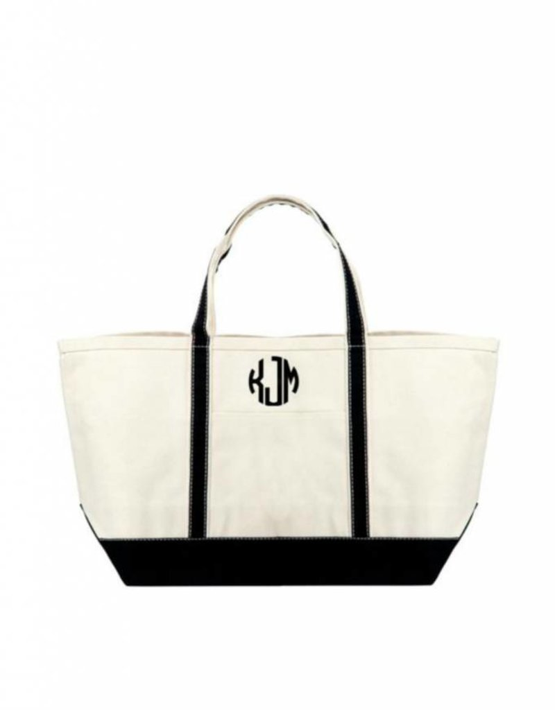 Large Boat Tote with monogram