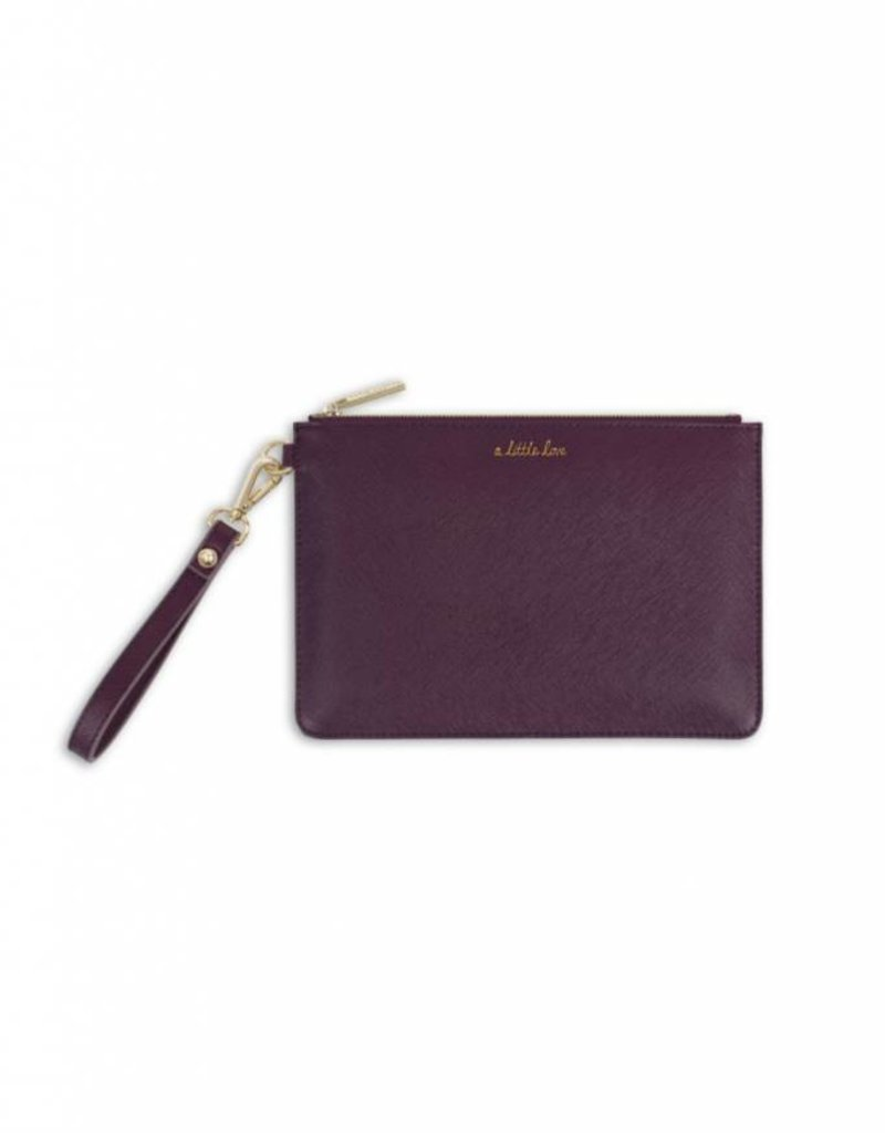 KATIE LOXTON *KLB367 SECRET MESSAGE POUCH - A LITTLE LOVE/CARRY A LITTLE LOVE WITH YOU WHEREVER YOU GO - MULBERRY