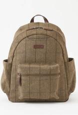 302-BRN Clark Backpack TWEED PLAID