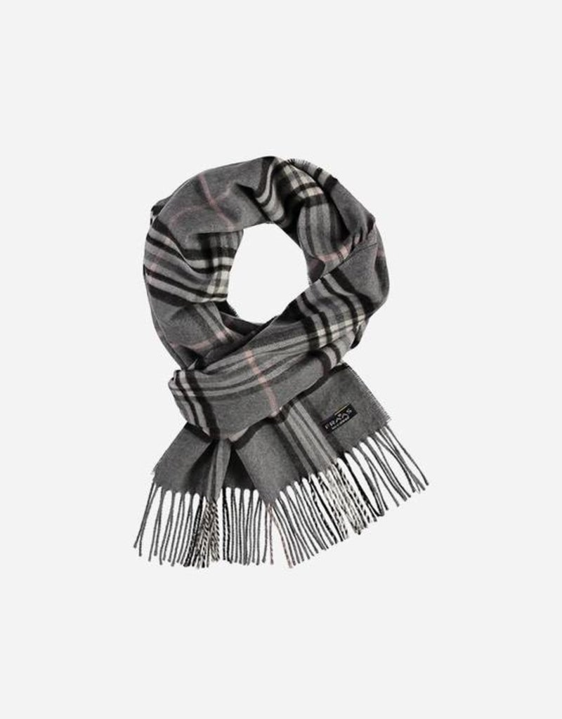 V. FRAAS 625391 Cashmink® scarf with check pattern - Made in Germany