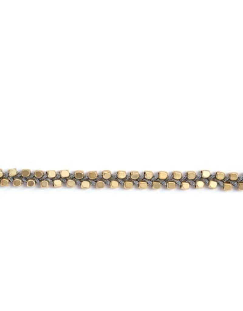 """Spartina 449 958610 BEACH BO CHOKER 12.5"""" SILVER GOLD"""