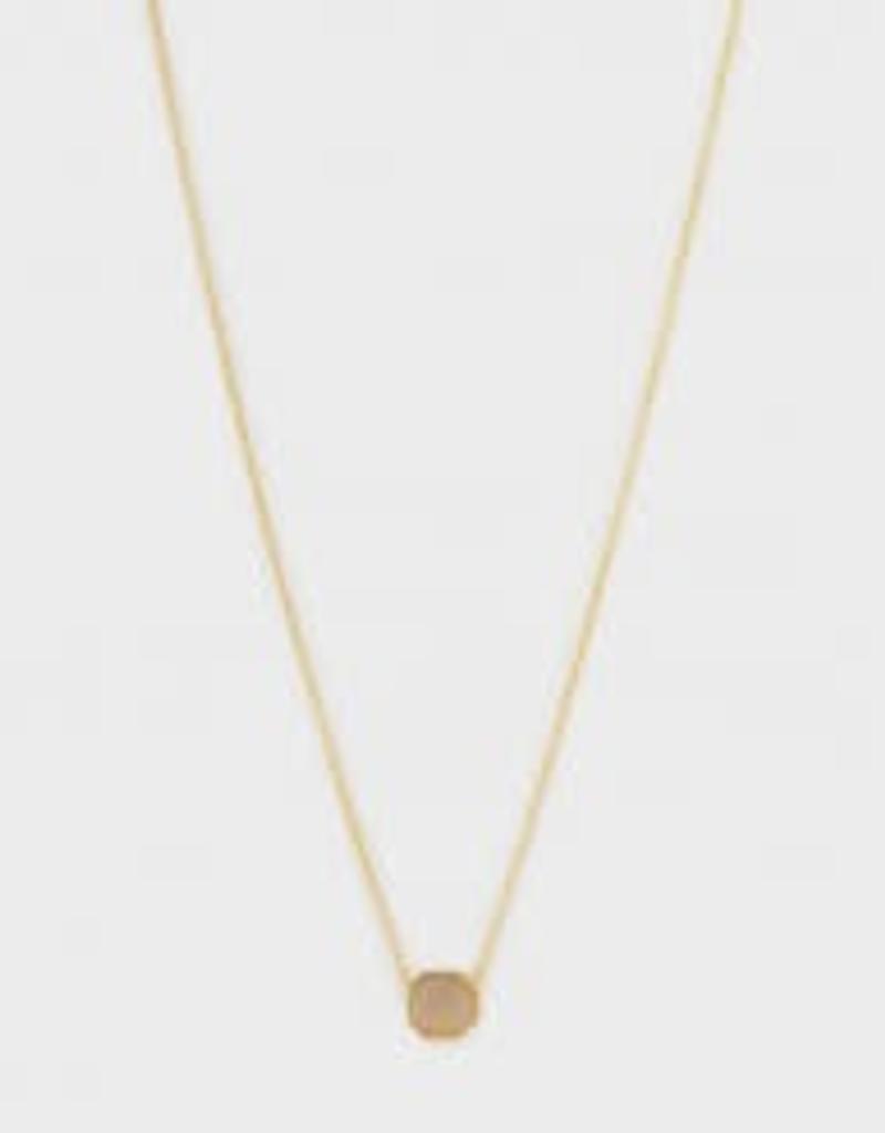 GORJANA 189-101-25- G-PKG Power Gemstone Charm Adjustable Necklace (black onyx) (gold) (envelope)