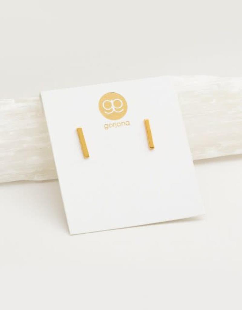 GORJANA 143-018-G Taner Bar Mini Studs (gold)
