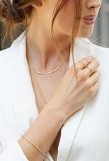 GORJANA 103-105-S Taner Bar Necklace (small) (silver)