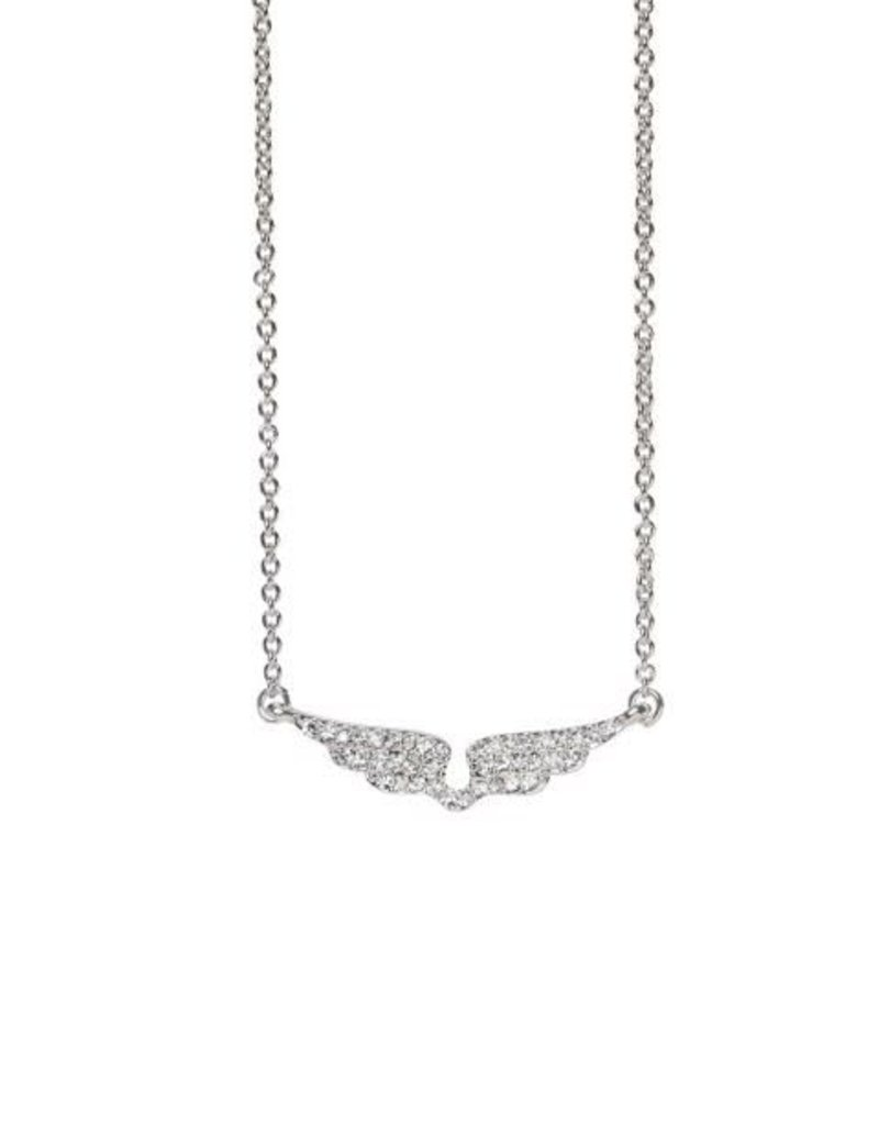 "Spartina 449 965861 SEA LA VIE NECKLACE 18"" FLY/WINGS SIL"