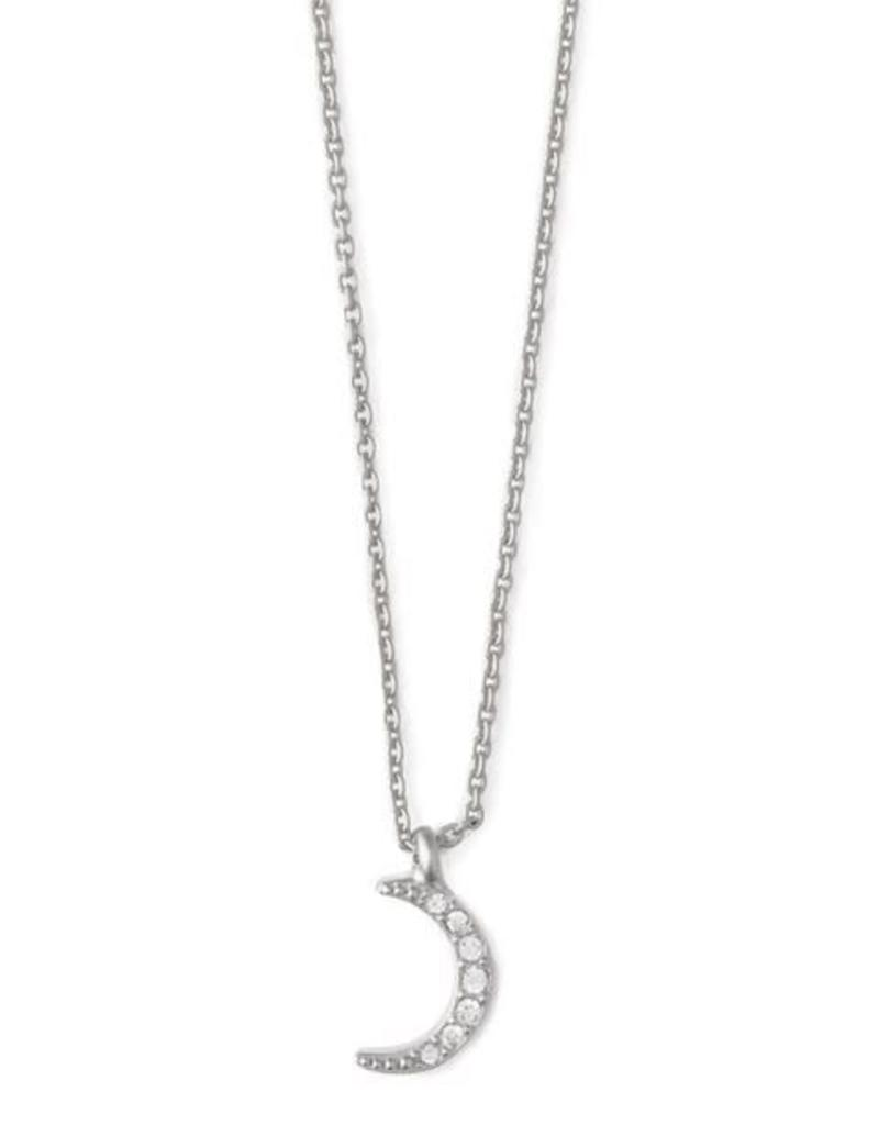 "Spartina 449 512268 SEA LA VIE NECKLACE 18"" GUIDING LIGHT/CRESCENT SIL"