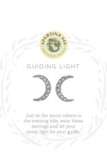 Spartina 449 512367 SEA LA VIE STUD EARRINGS GUIDING LIGHT/CRESCENT SIL