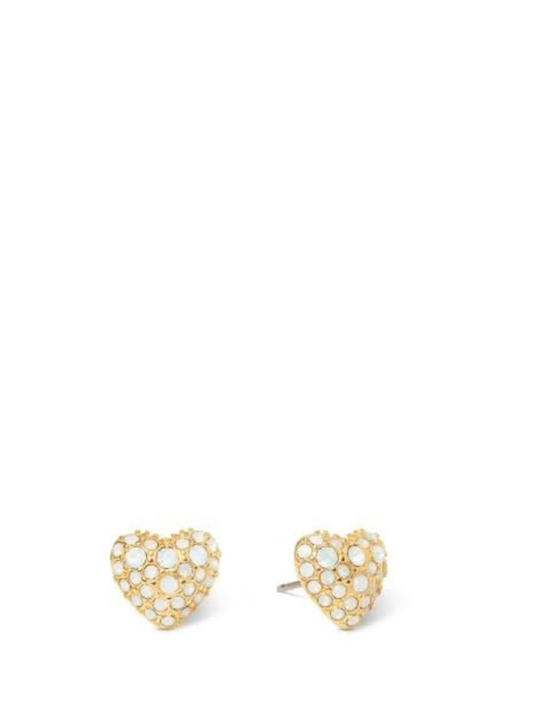 Spartina 449 273175 BURSTING HEART STUD EARRINGS WHITE OPAL