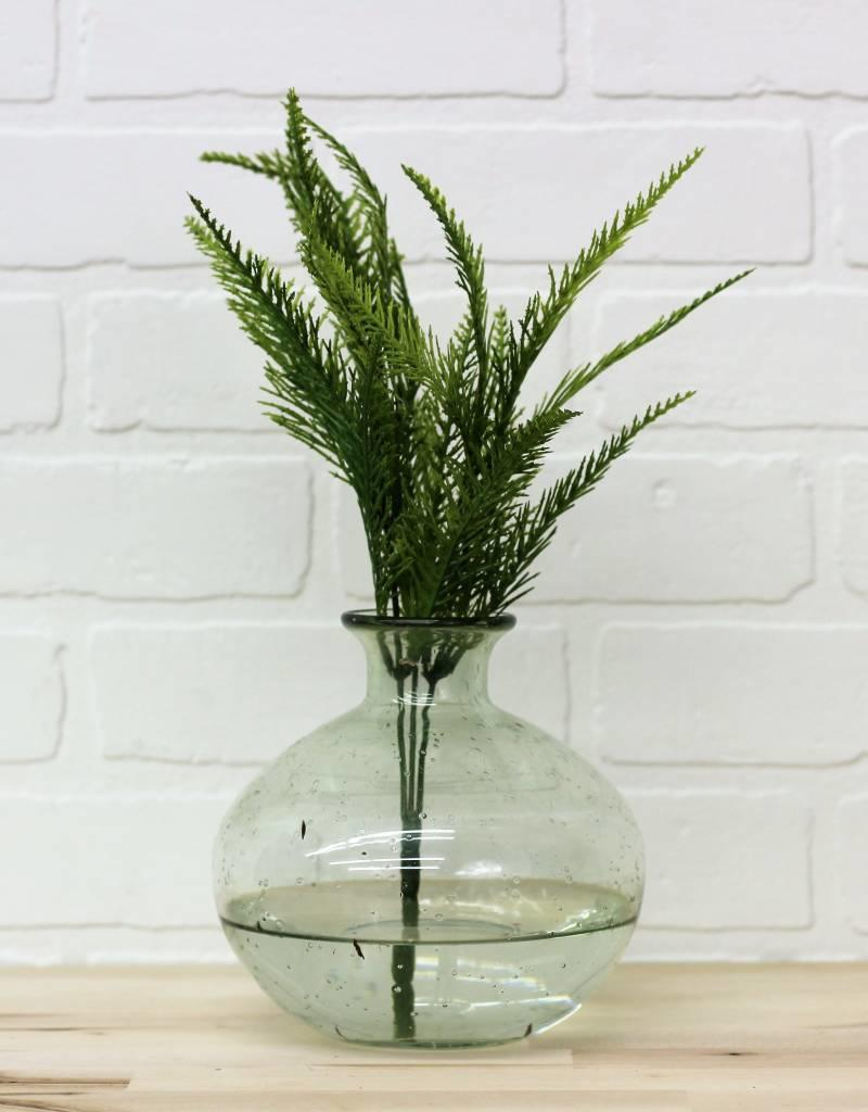 Recycled Green Glass Vases