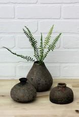 Brown Distressed Terra Cotta Vases (set)