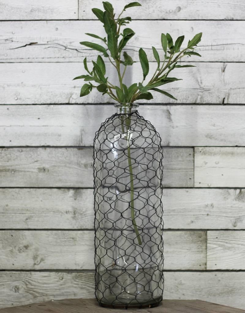 Glass Bottle with Mesh