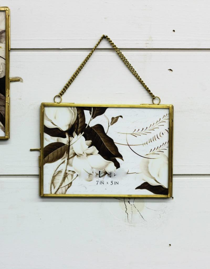 Brass & Glass Picture Frame