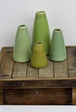 green terra cotta vases