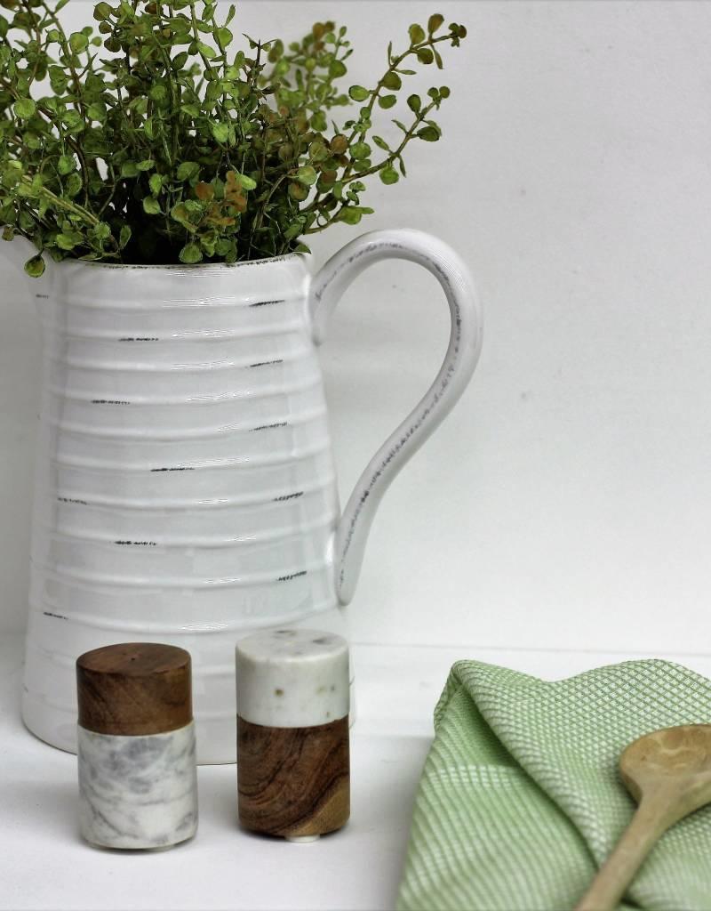 Marble/Wood Salt and Pepper Shaker