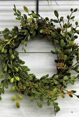English Boxwood wreath candlering