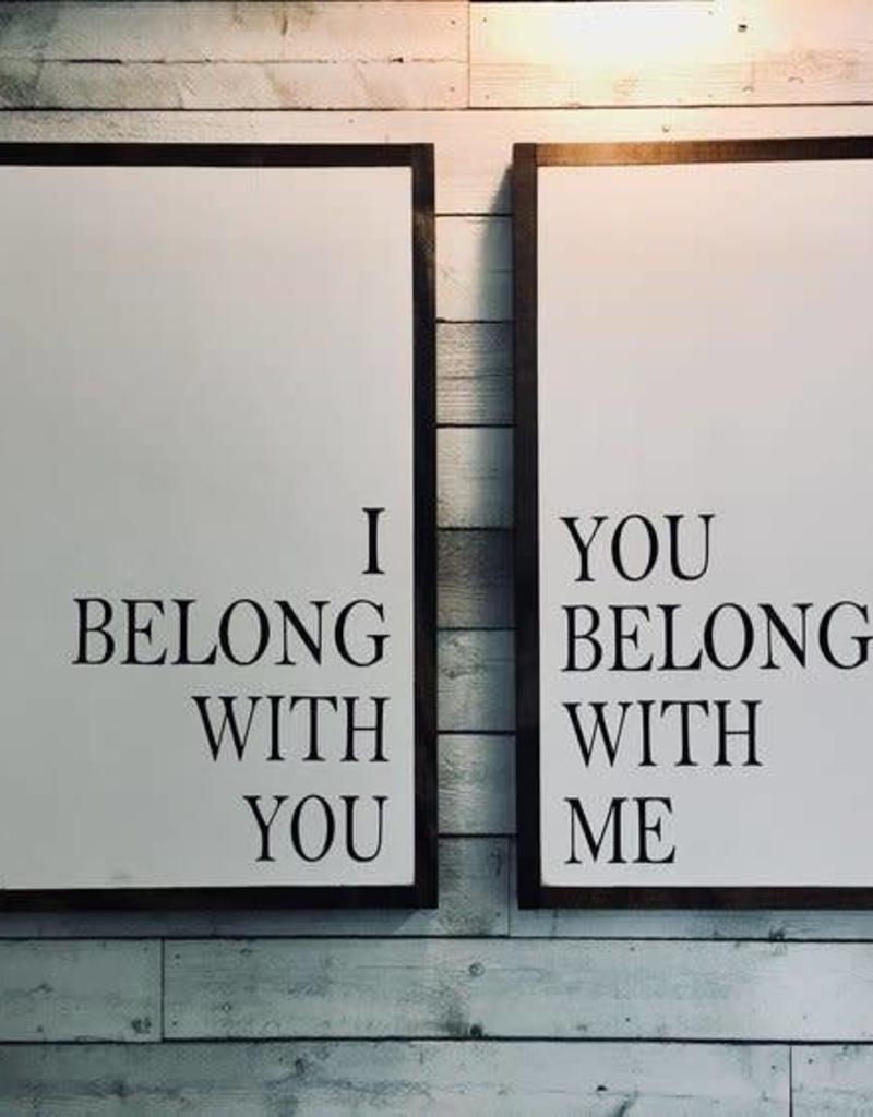 I Belong with You, You Belong with Me (set)